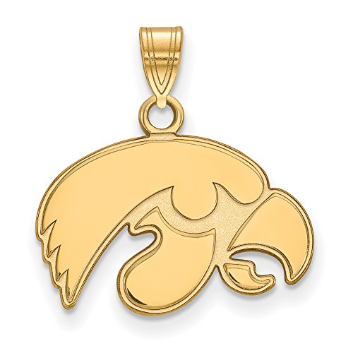 Iowa Small (1/2 Inch) Pendant (14k Yellow Gold) by LogoArt