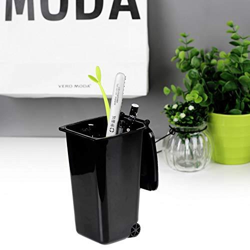 Hehilark Ricicla Il Mini portamatite da Ufficio in plastica ordinato da scrivania e organizza Articoli di cancelleria per Penne creativi con portamatite con Design a Due Ruote