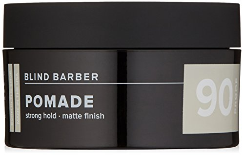 Blind Barber 90 Proof Pomade - Strong Hold, Light Texture Matte Hair Pomade for Men, Water Based Pomade with Hops & Tonka Bean (2.5 Ounces, 70 Grams) ()