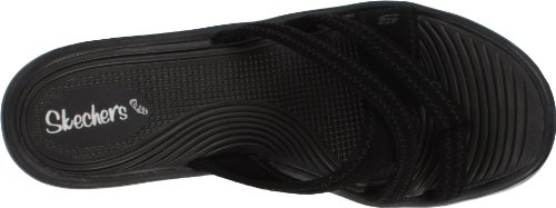 Black Rumblers People Sandal Cali Wedge Beautiful Women's Skechers 87q0B