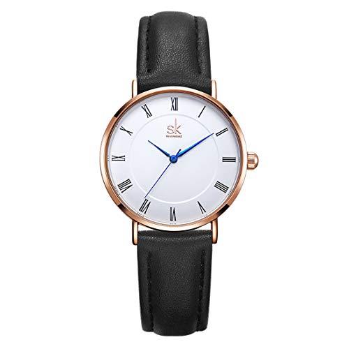 Women Watches Arabic Numerals Leather Band Watch Analog Ladies Wristwatch Quartz Relogio Feminino