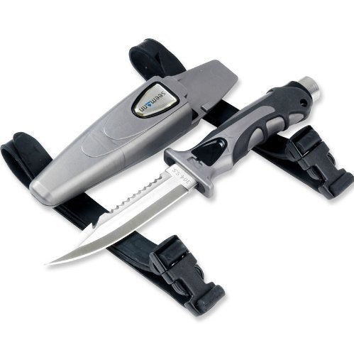 Subgear SK-21 - Cuchillo para buceo (acero inoxidable)