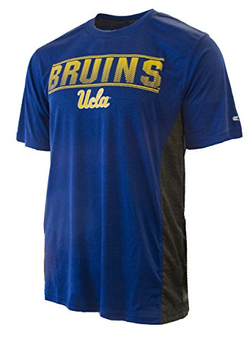 Colosseum NCAA UCLA Bruins Mens Beamer Short Sleeve T-shirt-heather blue-medium - Bowl Football Ucla Rose