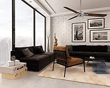 Minka-Aire F727-BN MM, Rudolph 52 Ceiling Fan, Brushed Nickel Finish with Medium Maple Blades