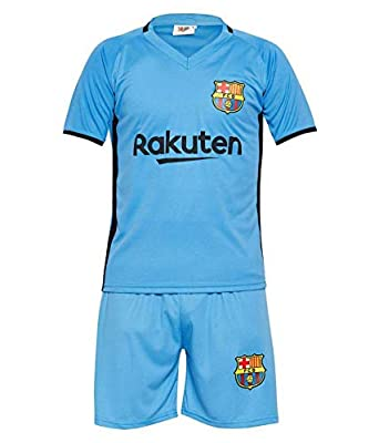 low priced cbb2c f3a63 Sportyway Kids Messi 10 FC Barcelona Football Jersey Set (Sky Blue) …