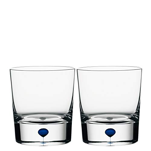 Orrefors Intermezzo Blue 8.33 Ounce Old Fashioned/Whiskey, Set of 2 - 6719821
