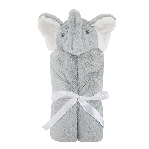 Baby Blanket Baby swaddle blankets Animal head blanket Four seasons available blanket(76X76cm) (Gray-Elephant) by CCFX
