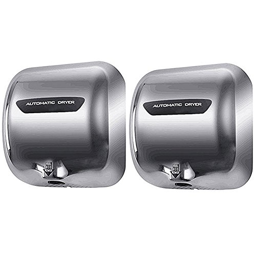 Miidii 1800W Stainless Steel Heavy Duty Automatic Wall-mounted Hand Dryer, Commercial Hot Hands...