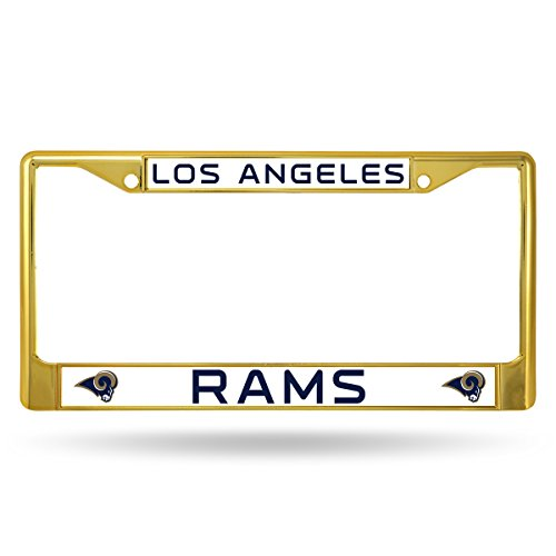 NFL Los Angeles Rams Colored Chrome Plate Frame, (Yellow Gold Rams)