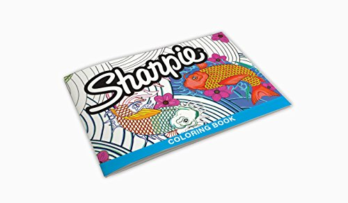 Sharpie 1989554 Permanent Markers, 10 Fine & 10 Ultra-Fine Tip, Assorted Colors with Aquatic-Themed Adult Coloring Book by Sharpie (Image #4)