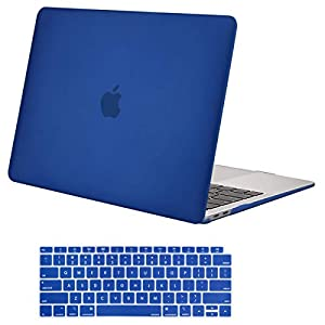 MOSISO MacBook Air 13 Inch Case 2018 Release A1932 with Retina Display, Plastic Hard Case Shell & Keyboard Skin Cover Only Compatible Newest MacBook Air 13 with Touch ID, Royal Blue