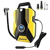 Glamore Portable Air Compressor for Car Tires, Digital Tire Inflator, 12V DC Air Compressor Tire Inflators, Air Tire Pump, 150 PSI with Emergency LED Flashlight for Cars, Motorcycles, Bikes, Ballons