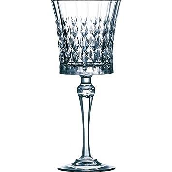 Cristal Darques Verres.Cristal D Arques Lady Diamond Verre De Vin 190ml Sans Repere De Remplissage 6 Verres