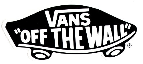 Vans Shoes Off The Wall Sticker - 15cm wide approx for Skateboards, BMX, Snowboard, Surf, Streetwear (Snowboard Stickers Vans)