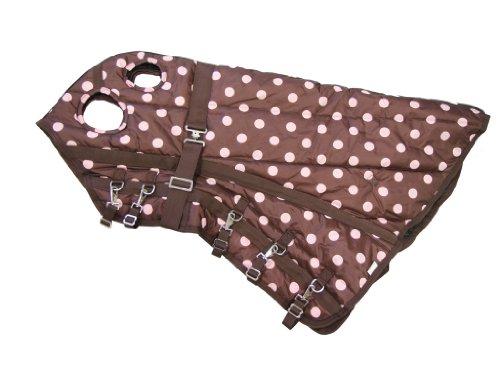 420 Denier Blanket (Horse Blanket Hood Neck Cover 420 Denier Pink Polka Dots, Small)