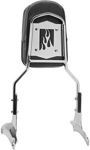 Krator Sissy Bar Backrest Motorcycle Passenger Seat Pad For 1997-1999 Honda Shadow ACE 750 VT750