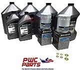 MERCURY VERADO Quicksilver TWIN ENGINE Oil Change Kit 25W40 w/Lower Unit Hi-Performance Gear Lube & Gaskets L6 200/225/250/275/300/350/400HP 400R Outboard Models