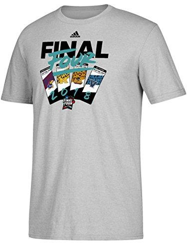 adidas 2018 NCAA Final Four March Madness Basketball Tickets Gray T-Shirt (XL)