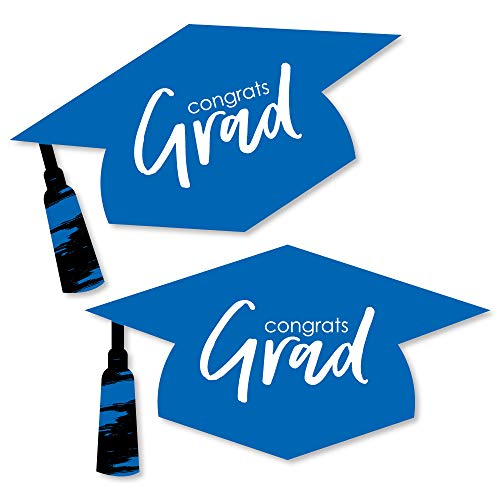 Blue Grad - Best is Yet to Come - Graduation Hat Decorations DIY Royal Blue Graduation Large Party Essentials - 20 Count ()