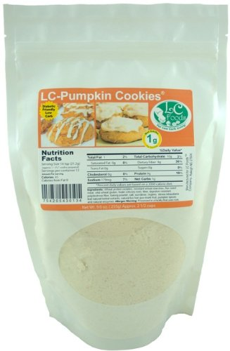Low Carb Pumpkin Cookie Mix - LC Foods - All Natural - No Sugar - Diabetic Friendly - 9 oz (Chocolate Sugar Free Cookie Mix)