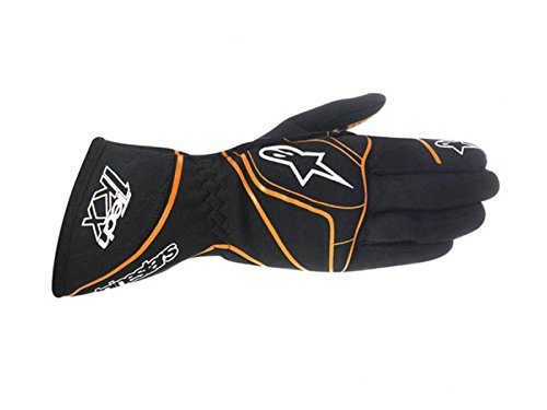 ALPINESTARS TECH 1-KX GLOVES - BLACK/ORANGE FLUORESCENT - SIZE L