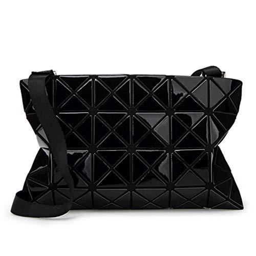 Black Con Piccola Laccetti A Diagonale Tracolla Borsa Pieghevole Geometrici Pxz8q