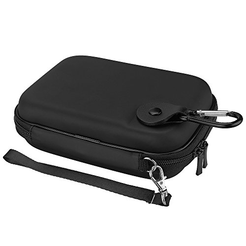 Lacdo Shockproof Hard Drive Carrying Case for Toshiba Canvio Basics / Canvio Advance / Canvio Connect II / Seagate Backup Plus Slim Portable External Hard Drive 1TB 2TB 3TB 4TB HDD TravelBag, Black