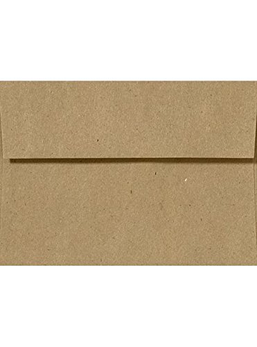 A9 Invitation Envelopes w/Peel & Press (5 3/4 x 8 3/4) - 100% Recycled - Grocery Bag Brown (1000 Qty.)