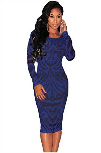 Net Long Sleeve Dress - 8