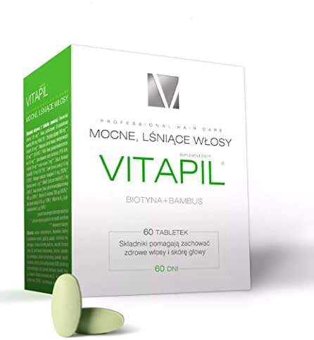 Vitapil with biotin and Bamboo - 2p х 60 tabs = Total 120 tabs for Strong and Healthy Hair