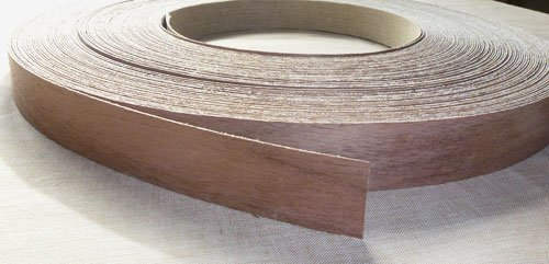 Pre Glued Iron on Walnut Wood Veneer Edging Tape, 22mm x 5metres *Free Postage, Fast Dispatch* Edgeband