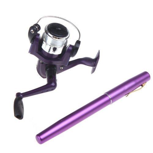 Docooler Fishing Rod Mini Fishing Pole Retractable Pocket Pen with Fishing Reel and Fishing Line
