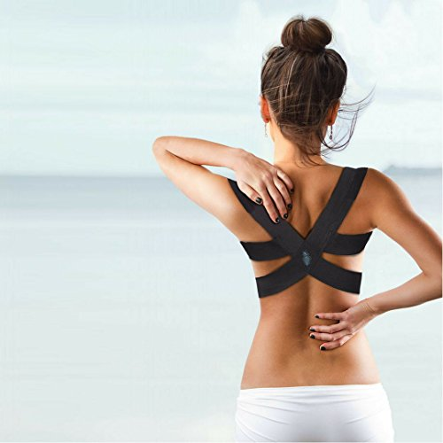 BERLIN & Daughter Posture Corrector - Fully Adjustable Breathable Clavicle Chest Back Support Brace which Improves Posture & Back Pain Relief - Perfect for Women & Girls