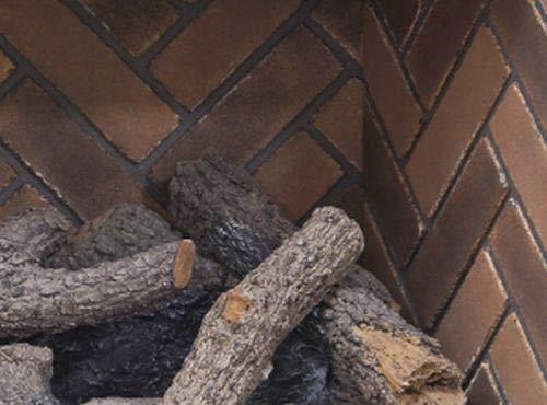 RH Peterson Co. Real Fyre DVP-25-1H Herringbone Brick Firebox Liner -