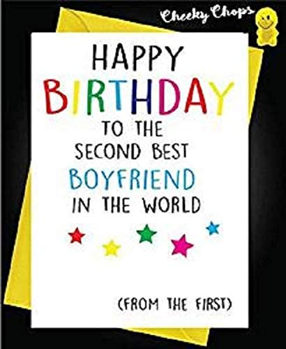 Funny Cheeky Lgbt Gay Birthday Cards Second Best Boyfriend L16 Amazon Co Uk Office Products