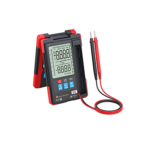 Vafany Multimeter, Digital Multimeter with Voice Recognition Control 6000 Counts Auto-Ranging LCD Screen for Auto Home Pro Multimeter Tester AC/DC Voltage/NCV/Resistance/Capacitance/Diode/Frequency