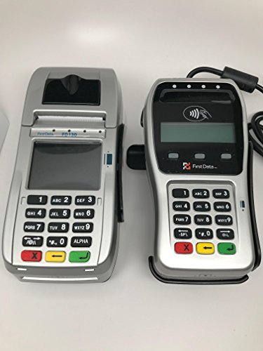First Data FD130 EMV with Wells 350, FD35 EMV with Wells 350 and Stand Bundle by FIRST DATA