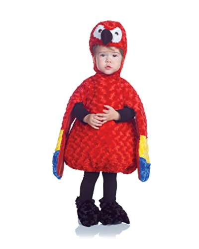 Underwraps Costumes Baby's Parrot Belly-Babies, Red/Yellow/Blue, -
