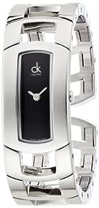 Calvin Klein Women's Black Dial Stainless Steel Band Watch - K3Y2S111