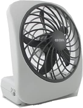 O2 Cool Portable Fan 5 In. 2 Speed White Battery Operated