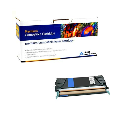 AIM Compatible Replacement for IBM InfoPrint Color 1634 Cyan High Yield Toner Cartridge (7000 Page Yield) (39V1626) - Generic ()