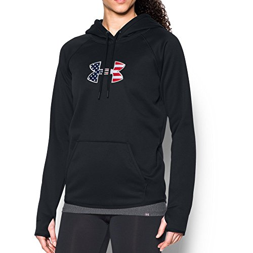 (Under Armour Women's UA BFL Icon Hoodie Black/Graphite Sweatshirt)