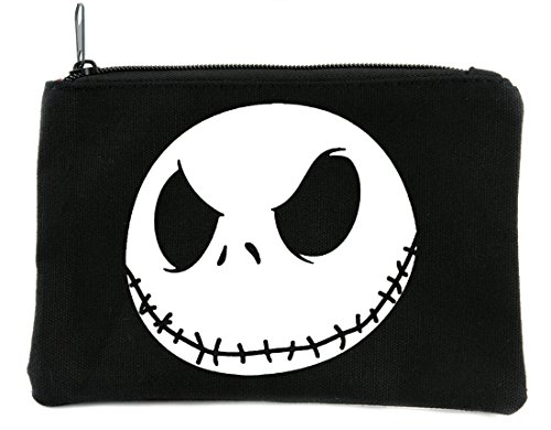 Evil Grin Jack Skellington Face Cosmetic Makeup Bag Nightmare Before Christmas]()