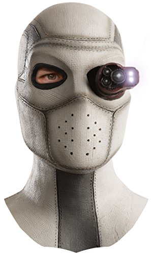 Rubie's Men's Suicide Squad Deadshot Overhead Lighted Latex Mask, Multi, One Size