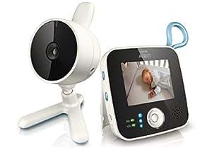 Philips Avent SCD610/00 - Vigilabebés con cámara con zoom, conexión hasta con 4 cámaras, alcance de 150 m, pantalla LCD de 2,4 pulgadas con visión diurna y nocturna, activación de pantalla automática