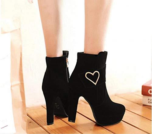 Donna stivali stivali Sexy Caviglia 43 Grandi Stivali Spessore Moda Stivaletti Martin 34 stivali Corti Xe Dimensioni Da Nero Alla Di 17wESE