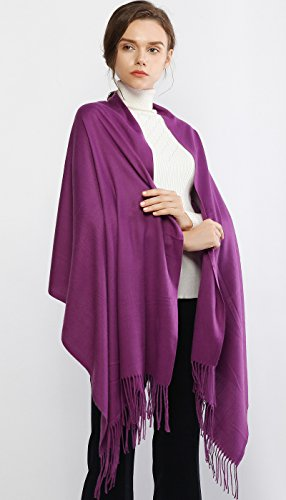 Cashmere Winter Scarf Long Large Soft Warm Pashmina Shawl Wrap for Women and Men by RIIQIICHY (Image #3)