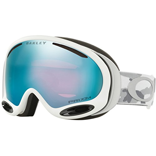 Oakley A-Frame 2.0 Snow Goggles, Snow Camo Frame, Prizm Sapphire Iridium Lens, - Prizm Goggle Oakley