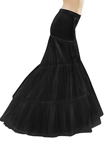 MISSYDRESS Floor-Length Dress Gown Slip Mermaid Fishtail Petticoat Black XL