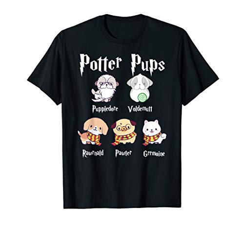 Harry Pawter Cute Puppy Dogs Potter Pups T Shirt for Women -